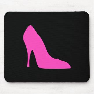 Pink Heel on Black Mouse Pad