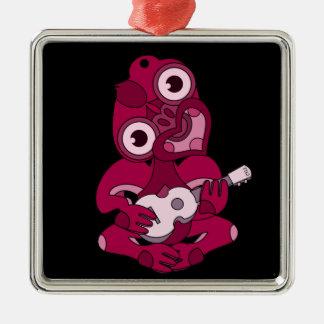Pink Hei Tiki playing ukelele Metal Ornament