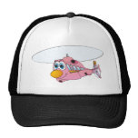 Pink Helicopter Cartoon Hat