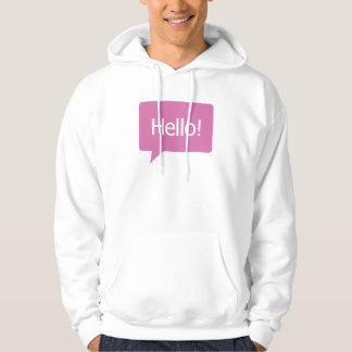 Pink Hello Hoodie