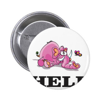 pink help elephant pinback button