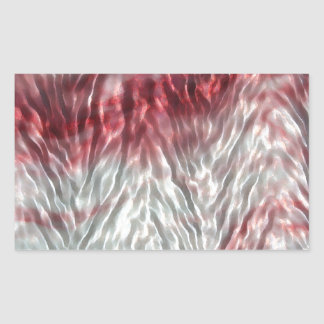 Pink herringbone ripple rectangular sticker