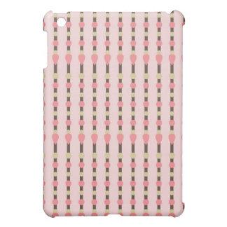 Pink herringbone tweed stripe preppy pattern print cover for the iPad mini