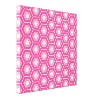 Pink Hex Tiled Canvas