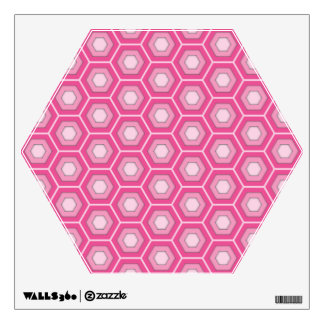 Pink Hex Tiled Wall Decal