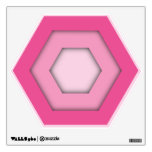 Pink Hex Wall Decal
