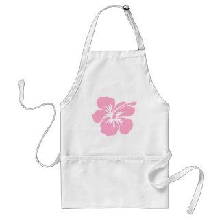 pink hibiscus aloha flower O Adult Apron