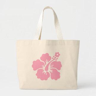 pink hibiscus aloha flower V Large Tote Bag