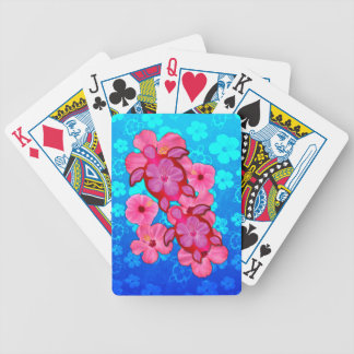 Pink Hibiscus And Honu Turtles Bicycle Playing Cards