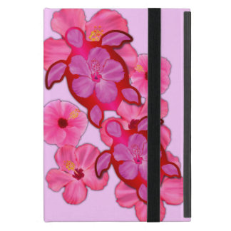 Pink Hibiscus And Honu Turtles Cases For iPad Mini