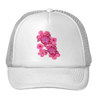 Pink Hibiscus And Honu Turtles Trucker Hats