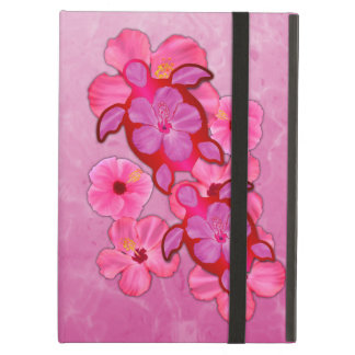 Pink Hibiscus And Honu Turtles iPad Air Cover