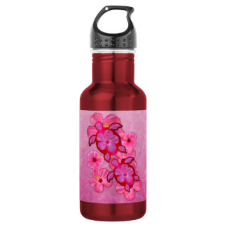 Pink Hibiscus And Honu Turtles Stainless Steel Water Bottle