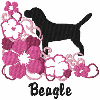 Pink Hibiscus Beagle