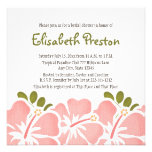 Pink Hibiscus Bridal Shower Invitations