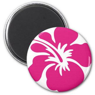 Pink Hibiscus Design 2 Inch Round Magnet