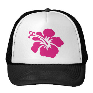 Pink Hibiscus Design Trucker Hat