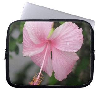 Pink Hibiscus Electronics Bag Laptop Sleeves