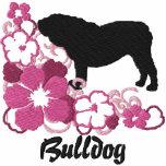 Pink Hibiscus English Bulldog Hoody