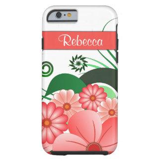 Pink Hibiscus Floral Custom iPhone 6 6S Tough Case