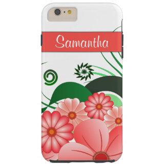 Pink Hibiscus Floral Tough iPhone 6 6S Plus Cases