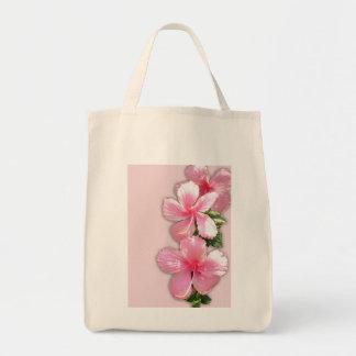 Pink Hibiscus Florals Tote Tote Bag