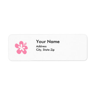 pink hibiscus flower address label