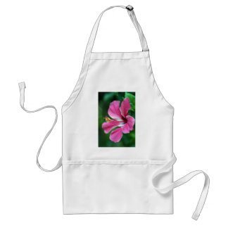 Pink hibiscus flower adult apron
