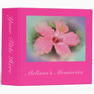 Pink Hibiscus Flower Binder