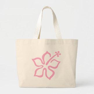 Pink hibiscus flower D Large Tote Bag