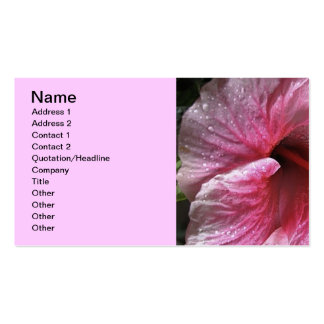 Pink Hibiscus Flower Double-Sided Standard Business Cards (Pack Of 100)