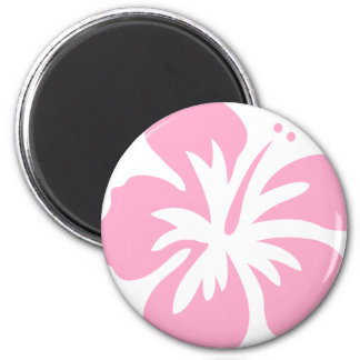 pink hibiscus flower E Magnet