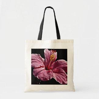 Pink hibiscus flower head, Majorca  flowers Canvas Bags