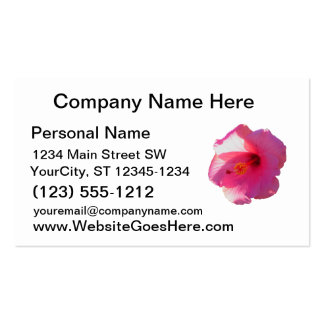 pink hibiscus flower image business card