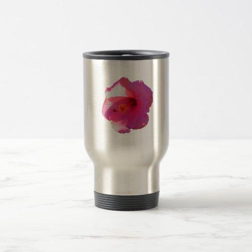 pink hibiscus flower image coffee mug