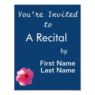"pink hibiscus flower image 4.25"" x 5.5"" invitation card"