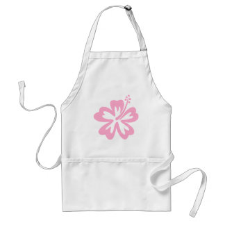 pink hibiscus flower J Adult Apron