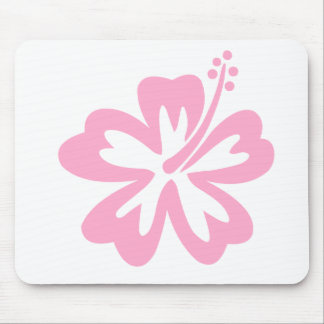 pink hibiscus flower J Mouse Pad