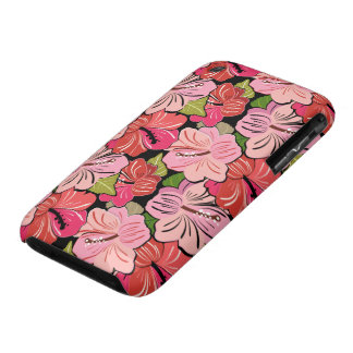 Pink Hibiscus Flower Pattern iPhone 3 Cover