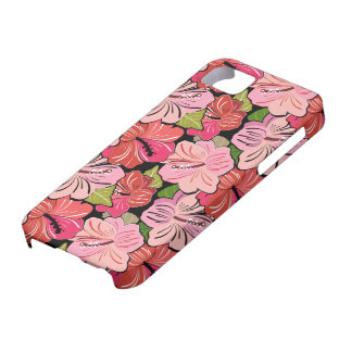 Pink Hibiscus Flower Pattern iPhone SE/5/5s Case