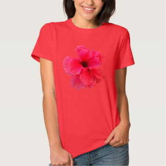 Pink Hibiscus Flower Picture T-Shirt