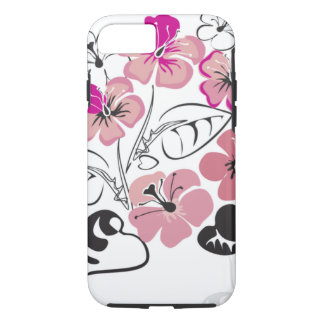 Pink Hibiscus Flowers iPhone 7 Case