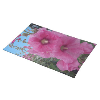 Pink Hibiscus Flowers Placemats