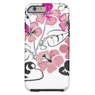 Pink Hibiscus Flowers Tough iPhone 6 Case
