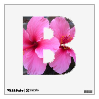 Pink Hibiscus Flowers Wall Sticker