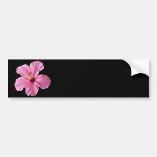 Pink Hibiscus Hawaii Flower Customized Template Car Bumper Sticker