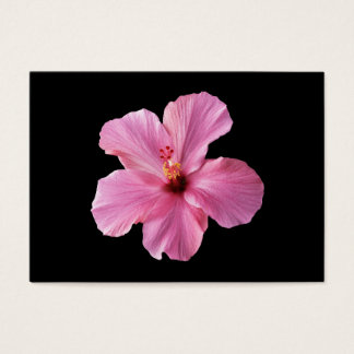Pink Hibiscus Hawaii Flower Customized Template Business Card