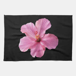Pink Hibiscus Hawaii Flower Customized Template Hand Towel