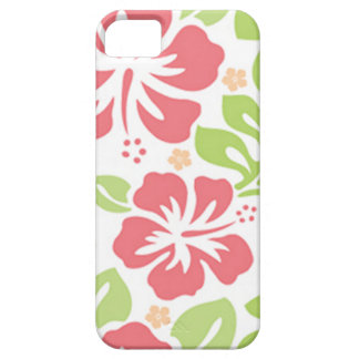 pink hibiscus Hawaiian floral pattern iPhone SE/5/5s Case