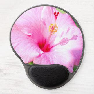 Pink Hibiscus Hawaiian Gel Mousepads